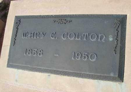 COLTON, MARY E. - Pinal County, Arizona | MARY E. COLTON - Arizona Gravestone Photos
