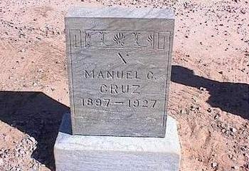 CRUZ, MANUEL C. - Pinal County, Arizona   MANUEL C. CRUZ - Arizona Gravestone Photos