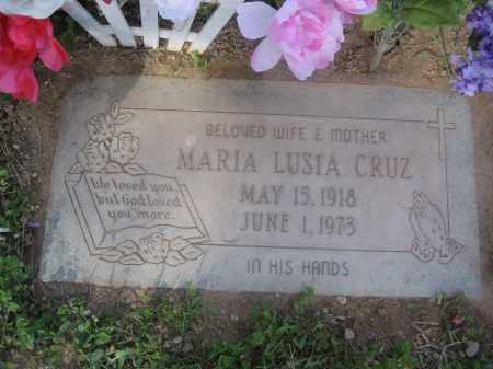CRUZ, MARIA LUSIA - Pinal County, Arizona   MARIA LUSIA CRUZ - Arizona Gravestone Photos