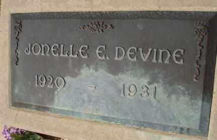 DEVINE, JONELLE E. - Pinal County, Arizona | JONELLE E. DEVINE - Arizona Gravestone Photos