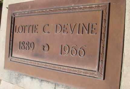 DEVINE, LOTTIE C. - Pinal County, Arizona | LOTTIE C. DEVINE - Arizona Gravestone Photos