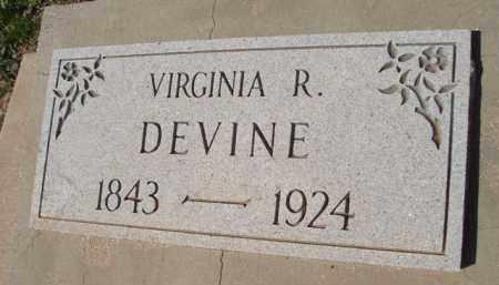 DEVINE, VIRGINIA R. - Pinal County, Arizona | VIRGINIA R. DEVINE - Arizona Gravestone Photos