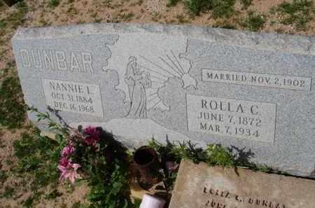 DUNBAR, ROLLA C. - Pinal County, Arizona | ROLLA C. DUNBAR - Arizona Gravestone Photos