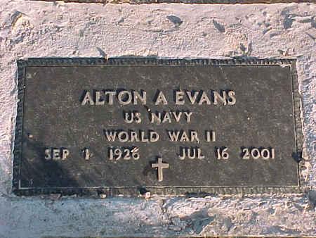 EVANS, ALTON A. - Pinal County, Arizona | ALTON A. EVANS - Arizona Gravestone Photos