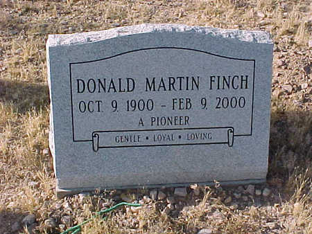 FINCH, DONALD  MARTIN - Pinal County, Arizona | DONALD  MARTIN FINCH - Arizona Gravestone Photos