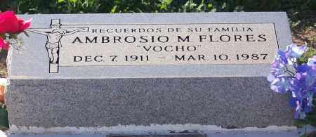 "FLORES, AMBROSIO ""VOCHO"" - Pinal County, Arizona | AMBROSIO ""VOCHO"" FLORES - Arizona Gravestone Photos"