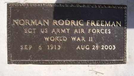 FREEMAN, NORMAN RODRIC - Pinal County, Arizona   NORMAN RODRIC FREEMAN - Arizona Gravestone Photos