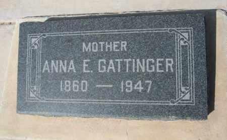 GATTINGER, ANNA E. - Pinal County, Arizona | ANNA E. GATTINGER - Arizona Gravestone Photos