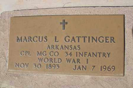 GATTINGER, MARCUS L. - Pinal County, Arizona | MARCUS L. GATTINGER - Arizona Gravestone Photos