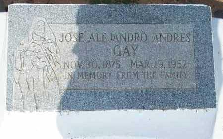GAY, JOSE ALEJANDRO ANDRES - Pinal County, Arizona   JOSE ALEJANDRO ANDRES GAY - Arizona Gravestone Photos