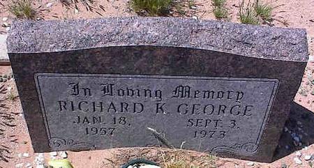 GEORGE, RICHARD K. - Pinal County, Arizona   RICHARD K. GEORGE - Arizona Gravestone Photos
