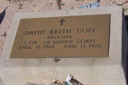 GOFF, DAVID KEITH - Pinal County, Arizona   DAVID KEITH GOFF - Arizona Gravestone Photos