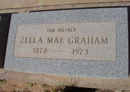 GRAHAM, ZELLA MAE - Pinal County, Arizona   ZELLA MAE GRAHAM - Arizona Gravestone Photos