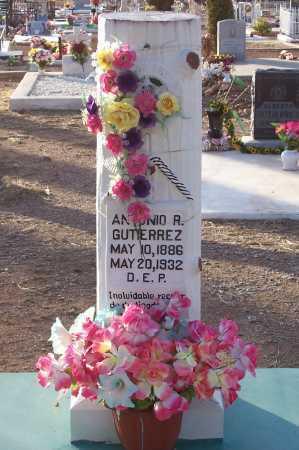 GUTIERREZ, ANTONIO R. - Pinal County, Arizona   ANTONIO R. GUTIERREZ - Arizona Gravestone Photos