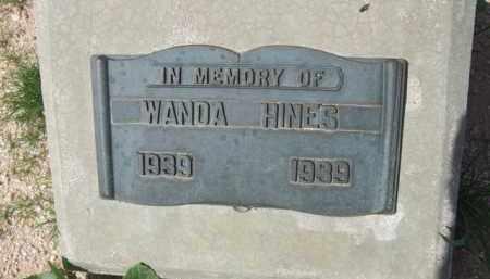 HINES, WANDA - Pinal County, Arizona   WANDA HINES - Arizona Gravestone Photos