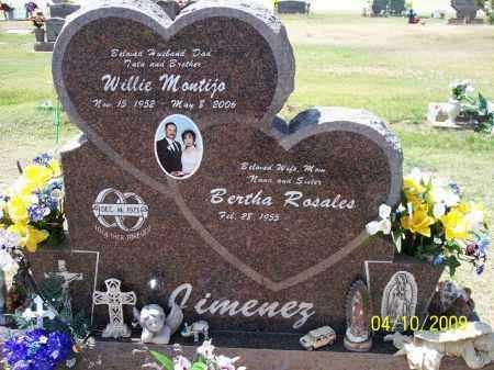 JIMENEZ, WILLIE MONTIJO - Pinal County, Arizona | WILLIE MONTIJO JIMENEZ - Arizona Gravestone Photos