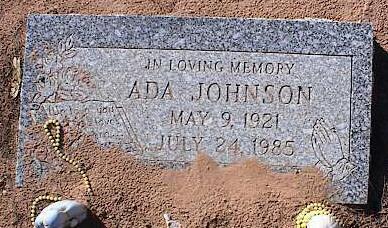 JOHNSON, ADA - Pinal County, Arizona | ADA JOHNSON - Arizona Gravestone Photos