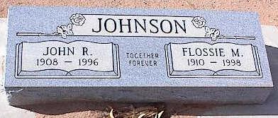 JOHNSON, FLOSSIE M. - Pinal County, Arizona | FLOSSIE M. JOHNSON - Arizona Gravestone Photos