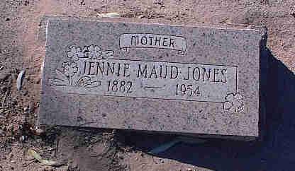 JONES, JENNIE MAUD - Pinal County, Arizona | JENNIE MAUD JONES - Arizona Gravestone Photos