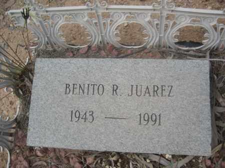 JUAREZ, BENITO R. - Pinal County, Arizona   BENITO R. JUAREZ - Arizona Gravestone Photos