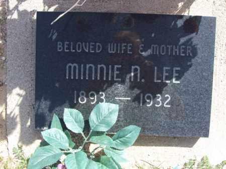 LEE, MINNIE N. - Pinal County, Arizona   MINNIE N. LEE - Arizona Gravestone Photos
