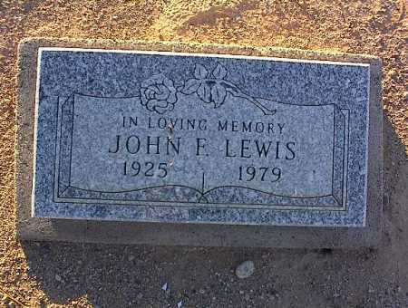 LEWIS, JOHN F. - Pinal County, Arizona | JOHN F. LEWIS - Arizona Gravestone Photos