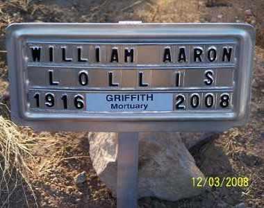 LOLLIS, WILLIAM AARON - Pinal County, Arizona | WILLIAM AARON LOLLIS - Arizona Gravestone Photos