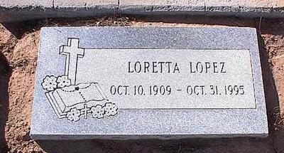 LOPEZ, LORETTA - Pinal County, Arizona   LORETTA LOPEZ - Arizona Gravestone Photos