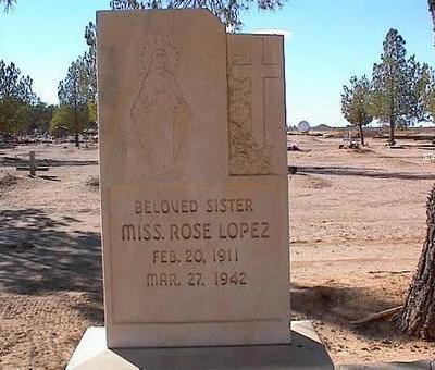 LOPEZ, ROSE - Pinal County, Arizona | ROSE LOPEZ - Arizona Gravestone Photos