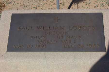 LOUCKS, PAUL WILLIAM - Pinal County, Arizona   PAUL WILLIAM LOUCKS - Arizona Gravestone Photos