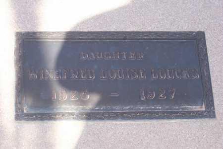 LOUCKS, WINEFRED LOUISE - Pinal County, Arizona | WINEFRED LOUISE LOUCKS - Arizona Gravestone Photos