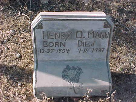 MANN, HENRY  O. - Pinal County, Arizona | HENRY  O. MANN - Arizona Gravestone Photos