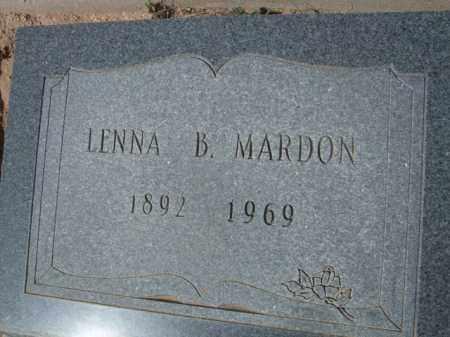 MARDON, LENNA B. - Pinal County, Arizona | LENNA B. MARDON - Arizona Gravestone Photos