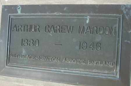 MAROON, ARTHUR CAREW - Pinal County, Arizona | ARTHUR CAREW MAROON - Arizona Gravestone Photos