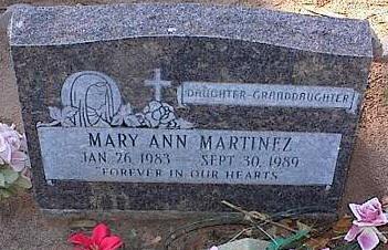 MARTINEZ, MARY ANN - Pinal County, Arizona   MARY ANN MARTINEZ - Arizona Gravestone Photos