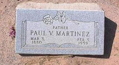 MARTINEZ, PAUL V. - Pinal County, Arizona | PAUL V. MARTINEZ - Arizona Gravestone Photos