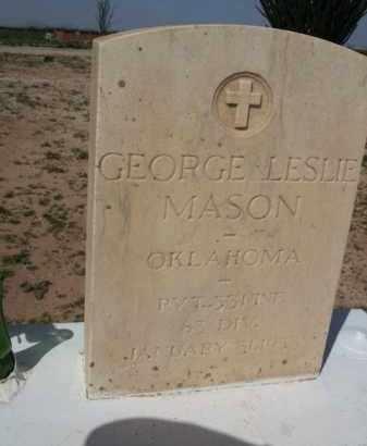 MASON, GEORGE LESLIE - Pinal County, Arizona | GEORGE LESLIE MASON - Arizona Gravestone Photos
