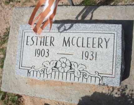 MCCLEERY, ESTHER - Pinal County, Arizona   ESTHER MCCLEERY - Arizona Gravestone Photos