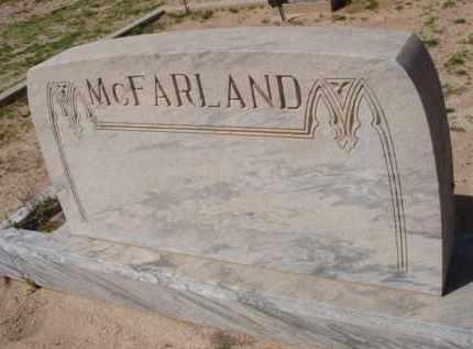 MCFARLAND, (NONE) - Pinal County, Arizona | (NONE) MCFARLAND - Arizona Gravestone Photos