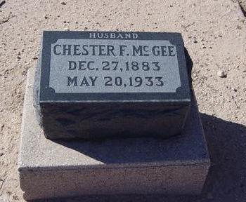 MCGEE, CHESTER F. - Pinal County, Arizona | CHESTER F. MCGEE - Arizona Gravestone Photos