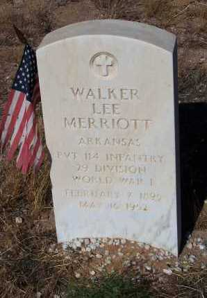 MERRIOTT, WALKER LEE - Pinal County, Arizona   WALKER LEE MERRIOTT - Arizona Gravestone Photos
