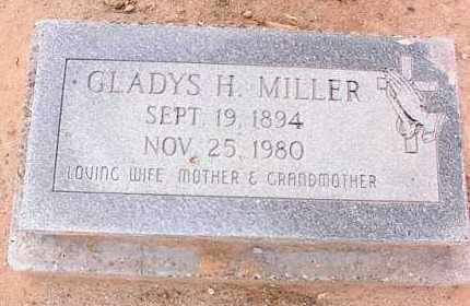 MILLER, GLADYS H. - Pinal County, Arizona   GLADYS H. MILLER - Arizona Gravestone Photos