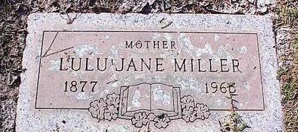 MILLER, LULU JANE - Pinal County, Arizona | LULU JANE MILLER - Arizona Gravestone Photos
