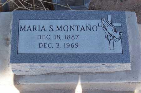 MONTANO, MARIA S. - Pinal County, Arizona | MARIA S. MONTANO - Arizona Gravestone Photos