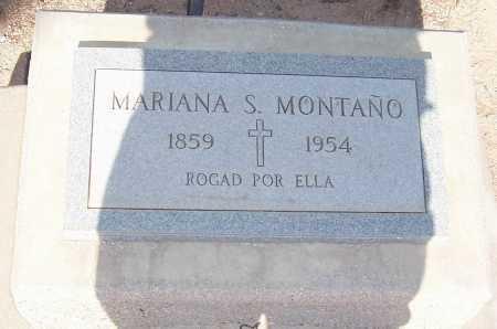MONTANO, MARIANA S. - Pinal County, Arizona | MARIANA S. MONTANO - Arizona Gravestone Photos