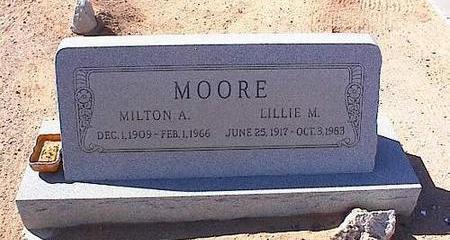 MOORE, MILTON A. - Pinal County, Arizona   MILTON A. MOORE - Arizona Gravestone Photos