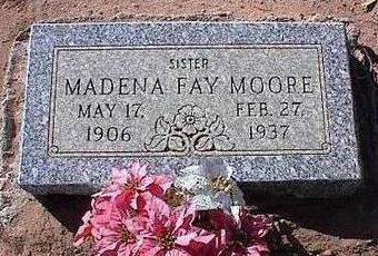 MOORE, MADENA FAY - Pinal County, Arizona   MADENA FAY MOORE - Arizona Gravestone Photos
