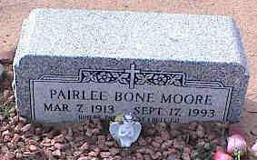 MOORE, PAIRLEE BONE - Pinal County, Arizona | PAIRLEE BONE MOORE - Arizona Gravestone Photos