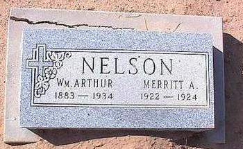 NELSON, WM ARTHUR - Pinal County, Arizona | WM ARTHUR NELSON - Arizona Gravestone Photos