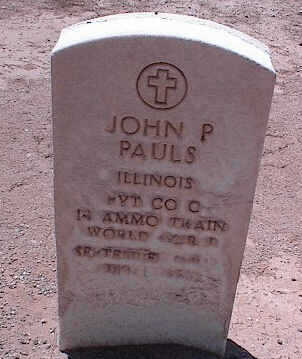 PAULS, JOHN P. - Pinal County, Arizona   JOHN P. PAULS - Arizona Gravestone Photos